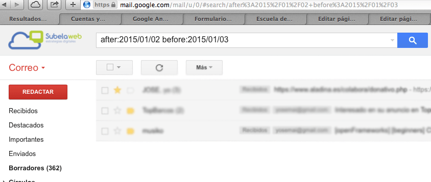 buscar por fecha en gmail
