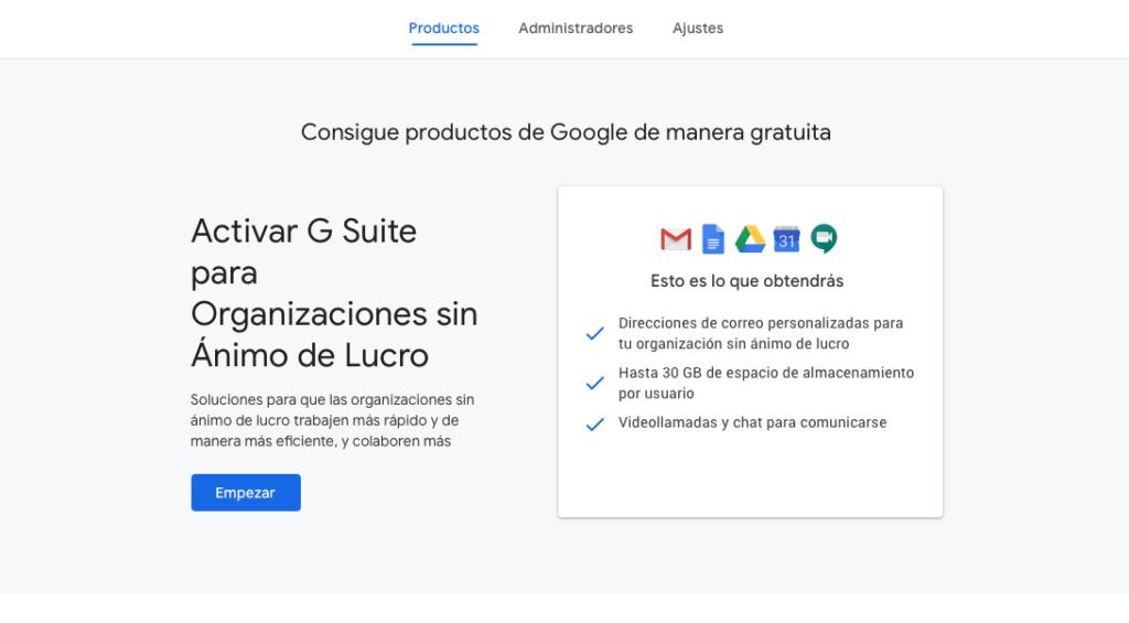google non profits alta