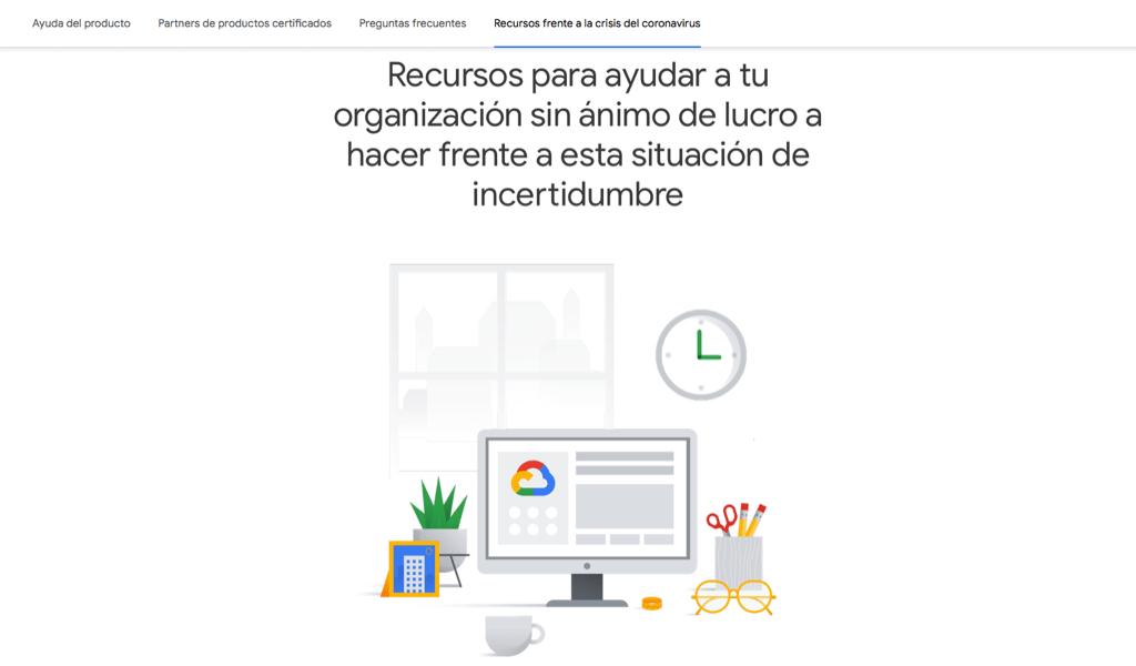 COVID 19 Google ayuda a las organizaciones sin ánimo de lucro
